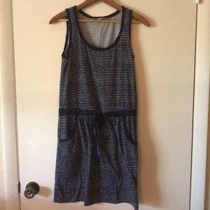 XS navy & white stripe Ann Taylor Loft dress